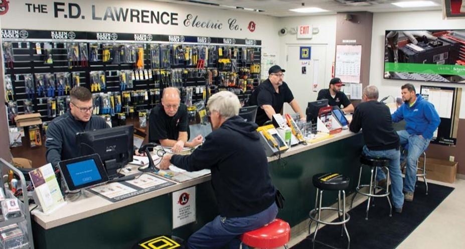 The F.D. Lawrence Electric Co. - Cincinnati Sales Counter