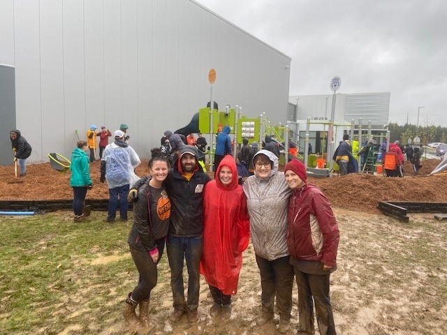 Rain or Shine we are out helping KIPP Academy in Nashville TN building their new playground in 2019!