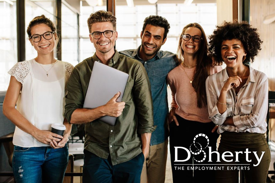 Doherty's business is people. We exist because of clients, employees and the communities we serve. We are guided by a set values and principles that ensure we are making a difference in the lives of individuals we are connecting through employment opportunities!