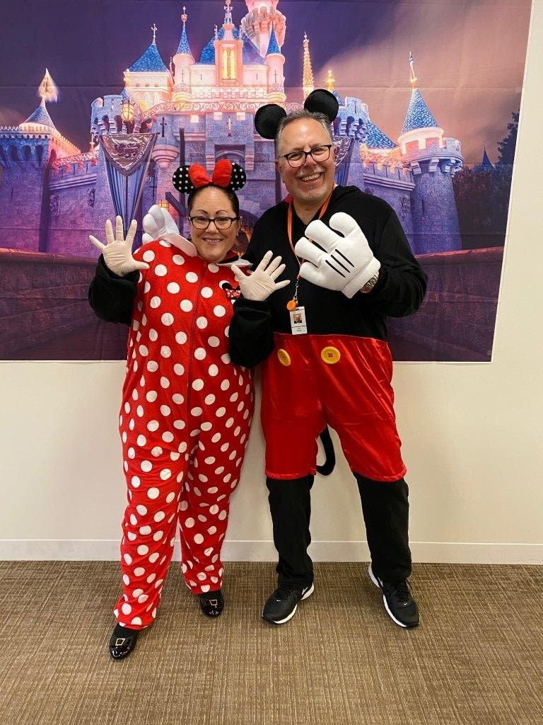 Our SVP and VP of Revenue Cycle Management winning the hearts of team members during our Halloween event.