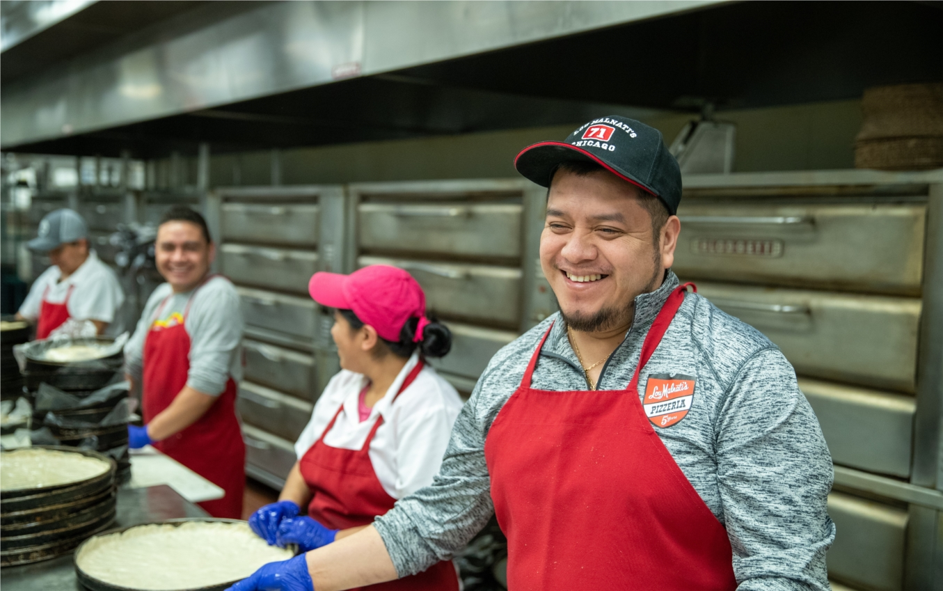 Lou Malnati's Kitchen Team, committed to Excellence