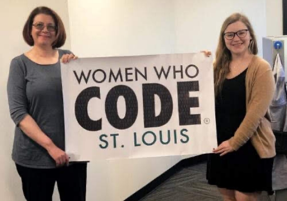 OCI team members supporting Women Who Code