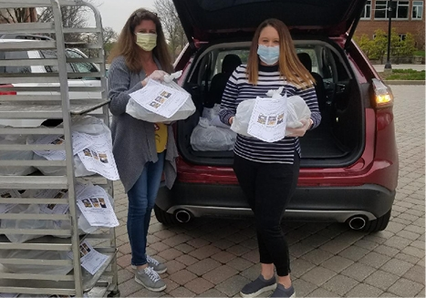 Sam Bauman and Beth Seibert started Meals For Heroes and provided 465 meals to frontline medical staff at Central DuPage Hospital during the COVID-19 Pandemic.