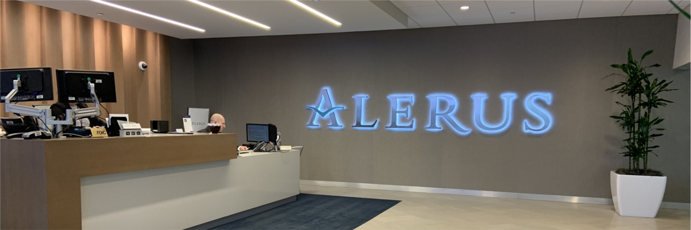 Alerus' office in the Canadian Pacific Plaza building in downtown Minneapolis.