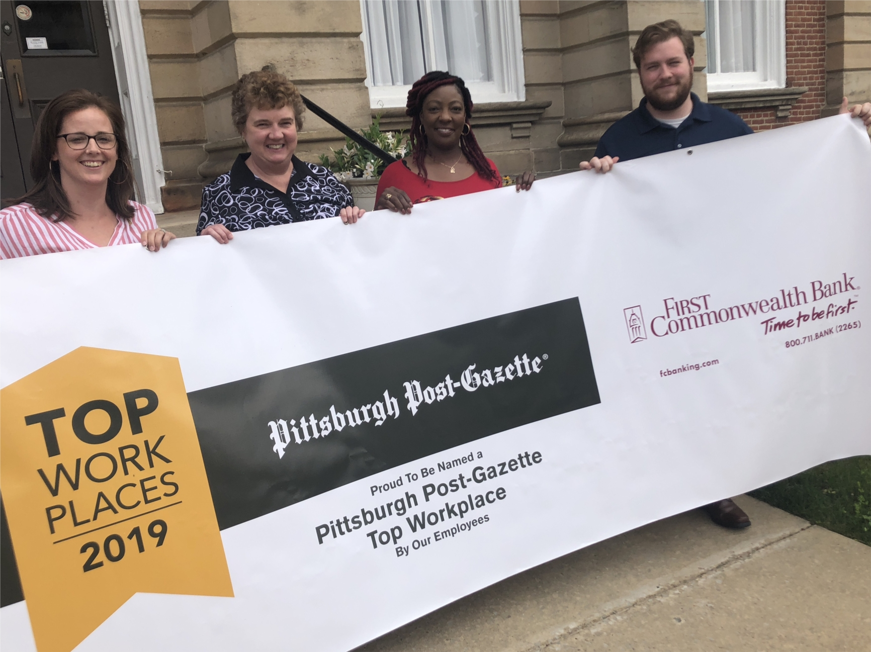 Indiana, PA employees celebrate being named a Top Workplace in 2019.
