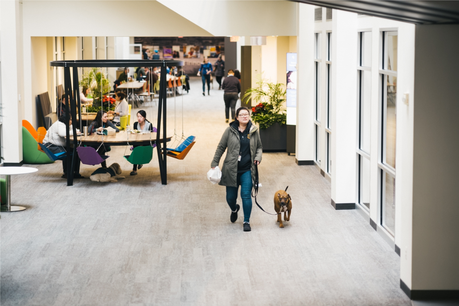 More campus than office, Watertown is a sprawling building filled with open, collaborative spaces where employees hash out projects and weekend plans.