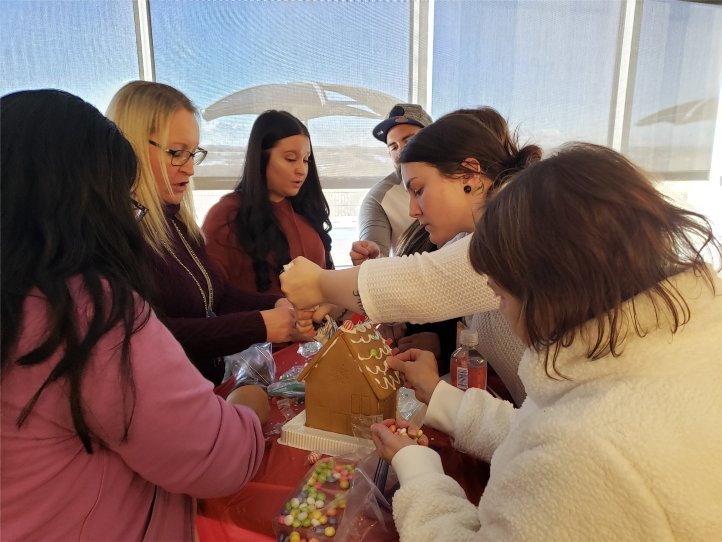 Taking a break for a gingerbread house decorating challenge over the holidays!