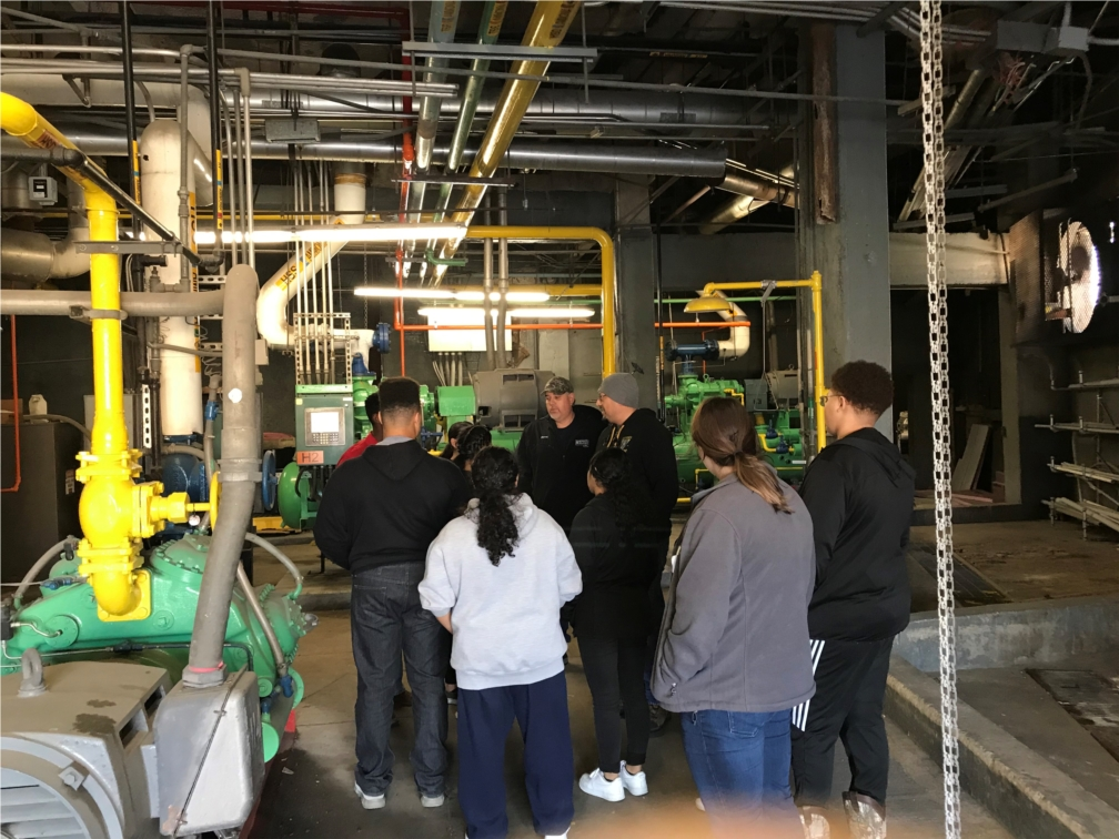 The Maintenance Team on a guided tour for Career Shadow Day.
