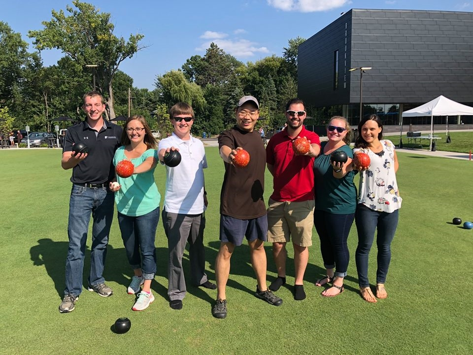 Froehling Anderson staff enjoying a firm outing lawn bowling.