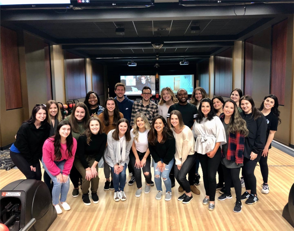 The Mystery Shop team enjoying a bowling outing pre-Work From Home!