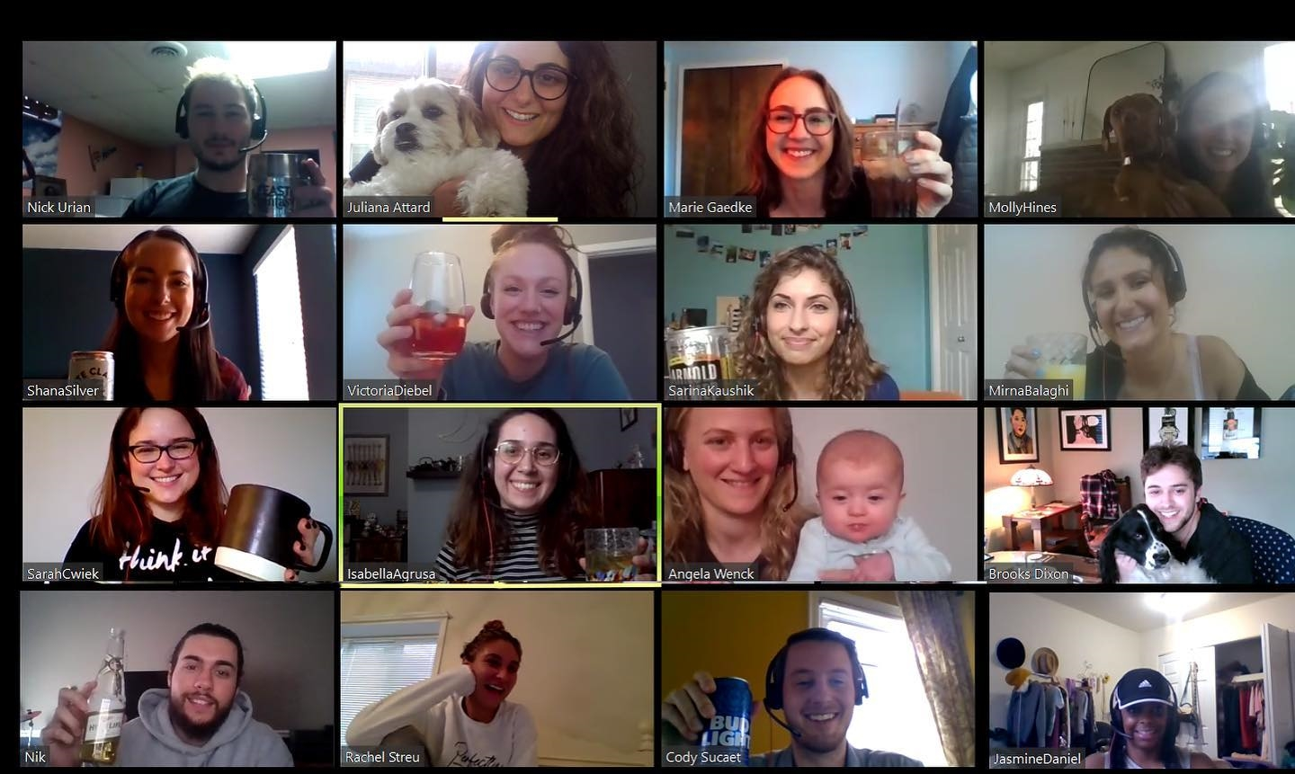 The Concierge team hosted a Virtual Happy Hour when we weren't able to gather in person!
