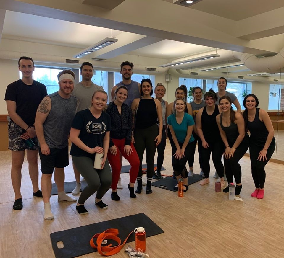 We stay fit through local fitness classes such as Barre, Cycle and HIIT in addition to our company provided gym membership.