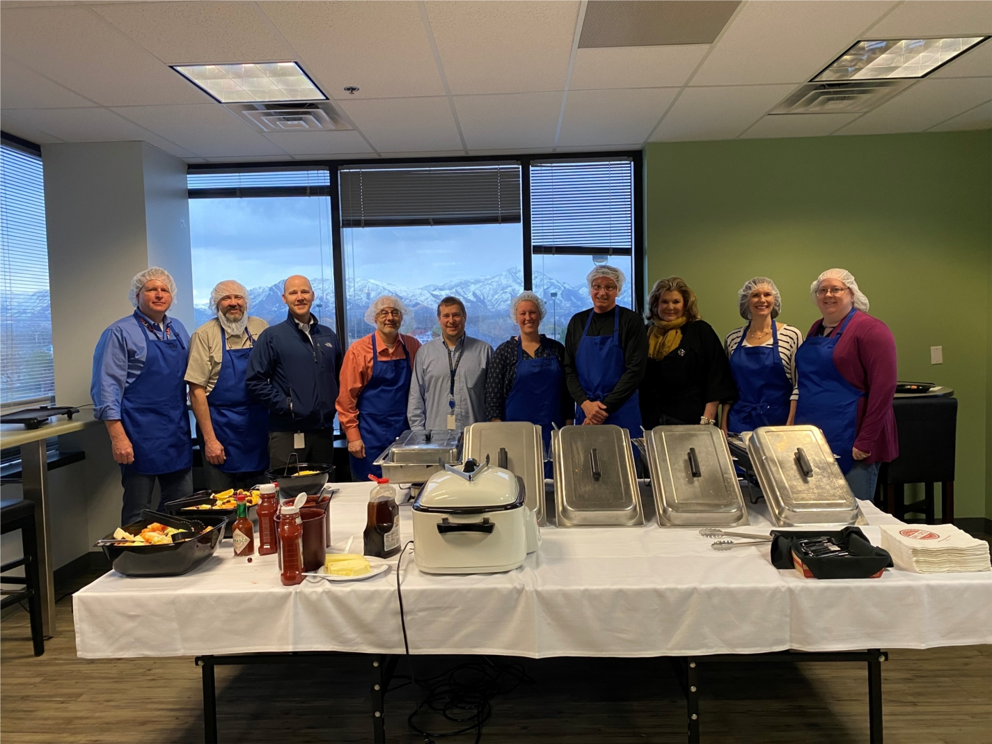 Executives served breakfast to employees for Employee Appreciation Week!