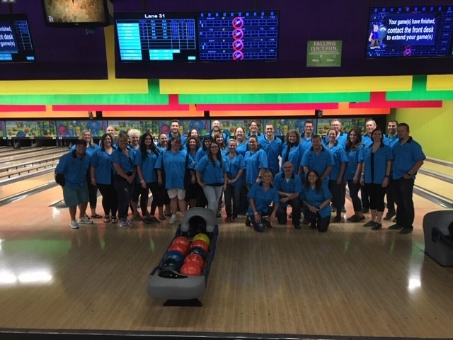 We have fun too! Our annual leadership bowling championship.