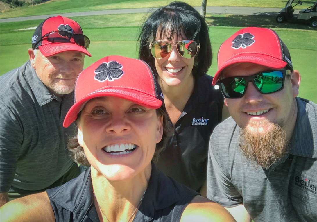 Beijer Electronics loves participating in charity golf tournaments benefiting cancer research centers!