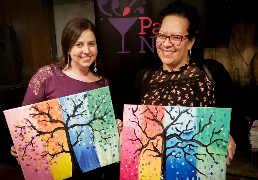 Beijer Electronics supports one another. Beijer hosted a Paint Nite event to raise money for an employee and spouse going through a rough patch.