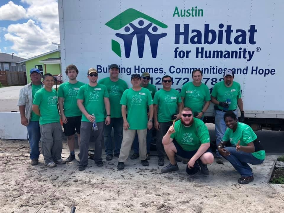 Our amazing volunteers at Habitat for Humanity