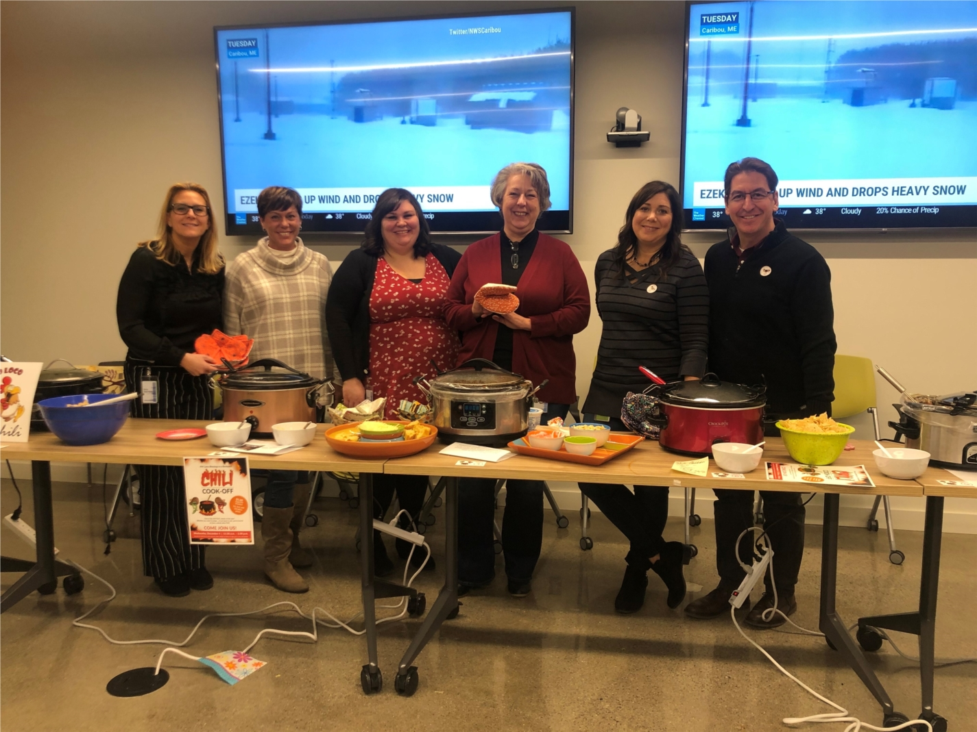 The annual chili cook-off is a fierce competition between the savory, spicy, and all around tastiest chilis in the office.