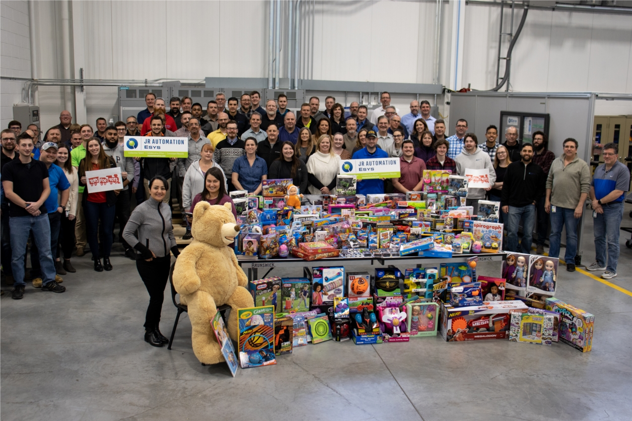 Every holiday season Esys teams up with Toys for Tots to gather toy donations with the help of our customers, suppliers, employees, friends, and families. It is truly inspiring to see year over year the good work we can do together to help those in need.