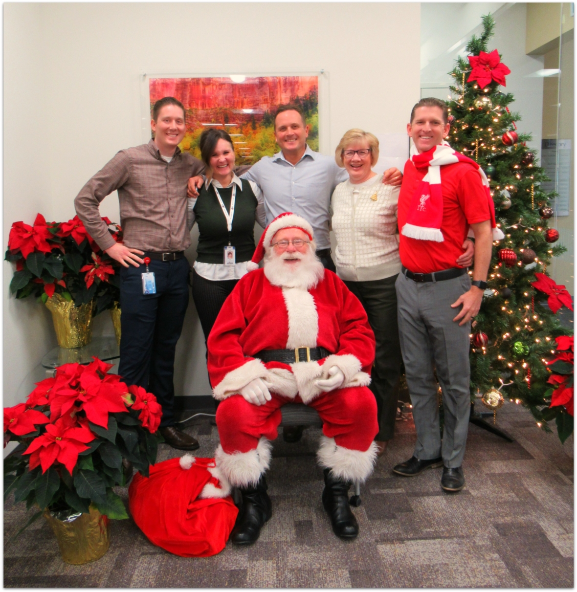 Every year Santa makes a special visit to ARUP to help celebrate the holidays with our employees and their families.